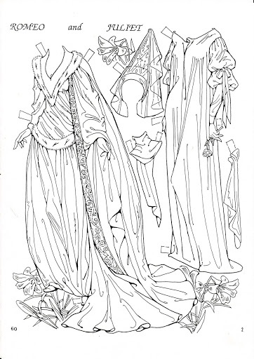 322 Best Black White Paper Dolls Coloring Pages International Free Romeo And Juliet Coloring Pages