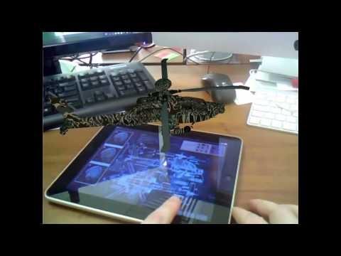 Augmented Reality on iPad seen via Vuzix glasses