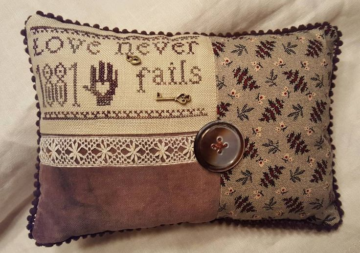 Love Never Fails with velvet from Dames of the Needle