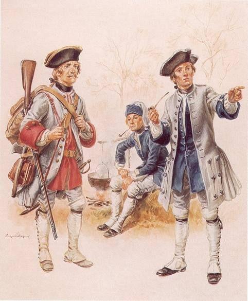 1a Soldat du régiment de Guyenne (renadier)   et soldat du régiment de Béarn (caporal)