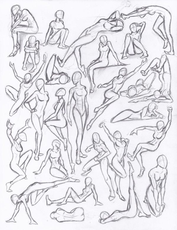 drawing poses | Figure drawing studies – poses by *NeoLupeTrooper9893 on deviant… – Referencias