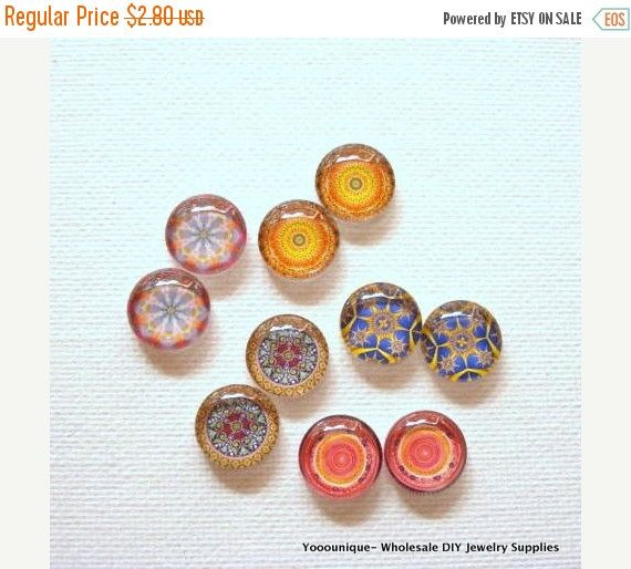 10% OFF  10pcs 5pair 12mm Handmade Mix Photo by yooounique on Etsy