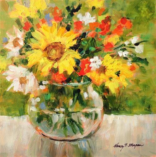 "Daily Paintworks - ""Light Through Glass"" - Original Fine Art for Sale - © Nancy F. Morgan"