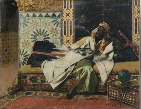 Rudolf Ernst - Le Nubien fumant une cigarette