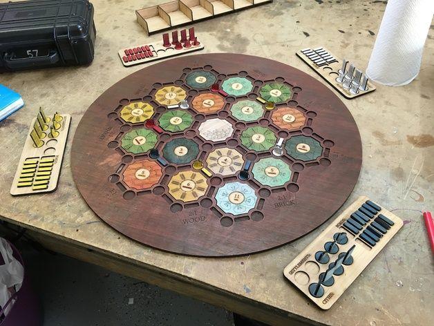 A quick lasercut board for Settlers of Catan