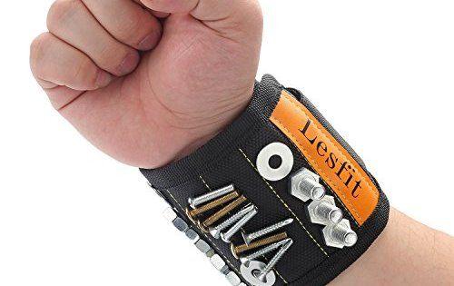 Bracelet Magnetique,Lesfit Bracelet Magnétique Bricolage Outils Outillage Réglable Bande Velcro Pour Maintenir Des…