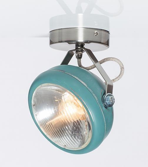 Het Lichtlab opbouwspot no.7 aqua (linnen) - Het Lichtlab - Lamp123.nl