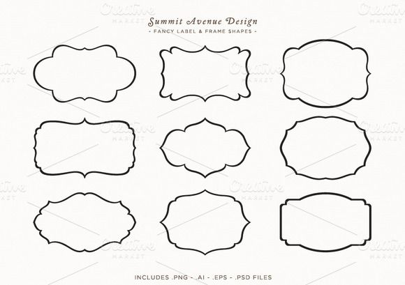 Fancy Frames & Label Shapes | Shape, Creative and Frames