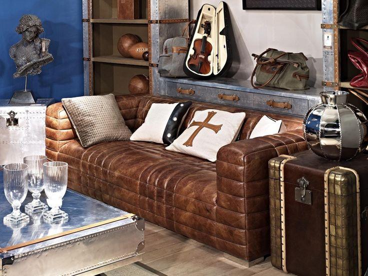 Birsay Ist Ein Einladendes Designsofa Aus Vintage Leder Das Geschickt Bauhaus