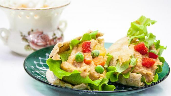 Перекус на работе - пита и хумус
