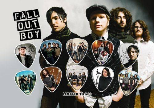 Fall Out Boy Guitar Pick Display (Limited to 500). Size is A5. 10 premium celluloid guitar picks. Guitar pick display featuring 10 full colour guitar picks on a photo card backing. Please note that no frame is supplied. No frame is supplied. Size: 148 x 210 mm or 5.8 x 8.3 inches. 148 x 210 mm or 5.8 x 8.3 inches.