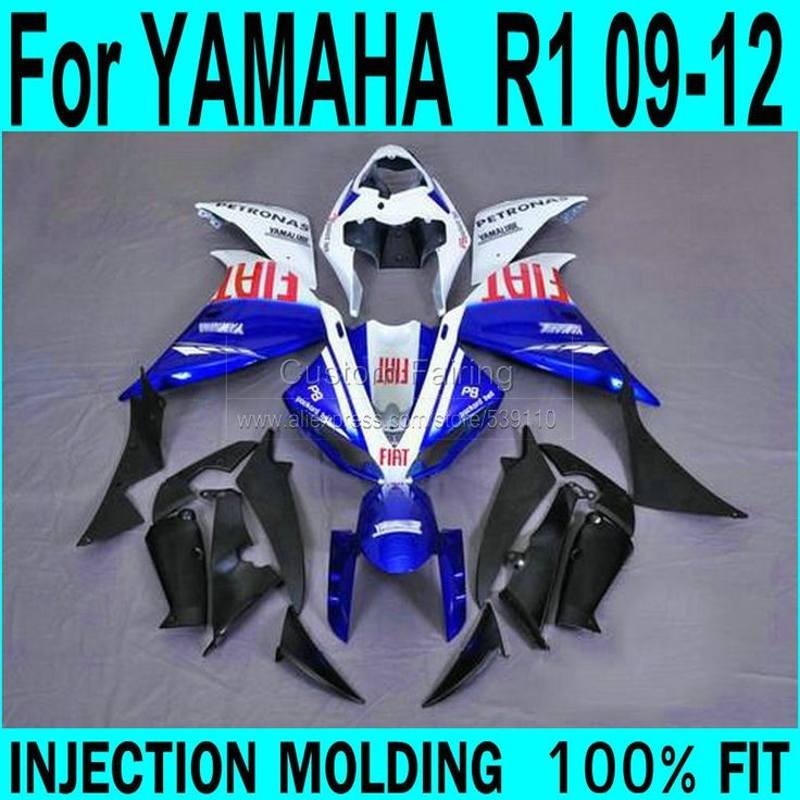 (431.48$)  Buy here - http://ai5zy.worlditems.win/all/product.php?id=32705301599 - Blue Fairings For YAMAHA  R1 2009 - 2012 ( sticker customize ) 09 Injection Fairing kit free shipping ll38