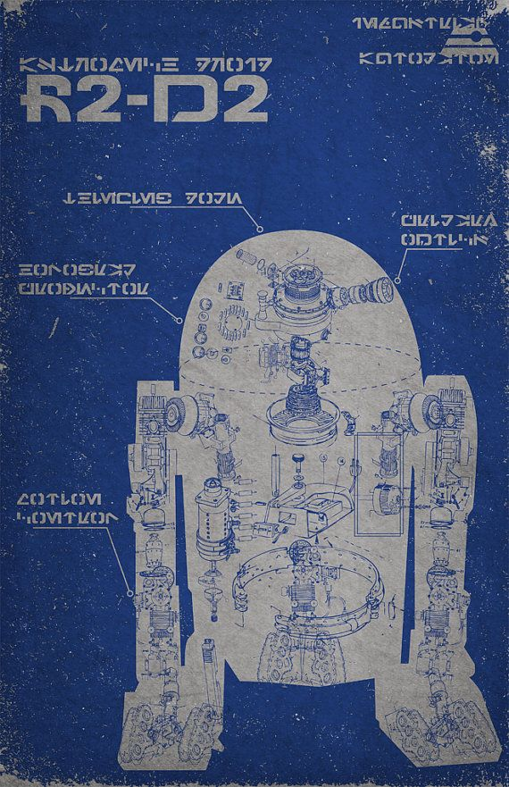 R2D2 Schematic Poster by TheDailyRobot on Etsy