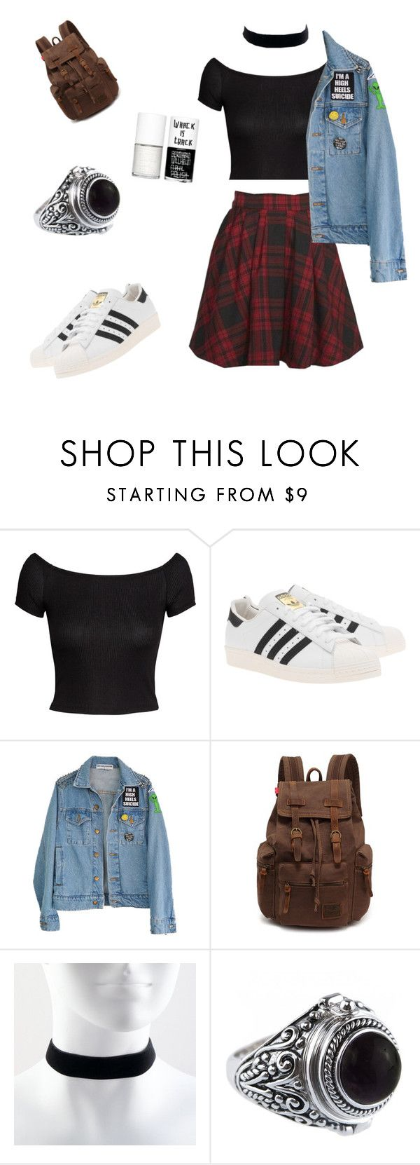 """Grunge alien"" by selin-antonioli ❤ liked on Polyvore featuring H&M, adidas Originals, Mini Cream, High Heels Suicide and Uslu Airlines"