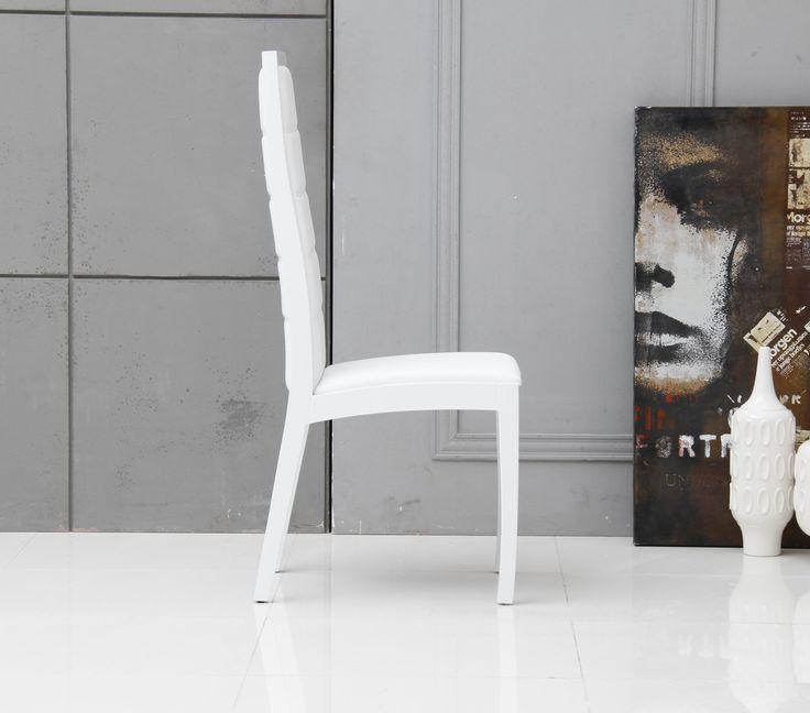 Leather Dining Chairs Modern pinterest'teki 25'den fazla en iyi white leather dining chairs