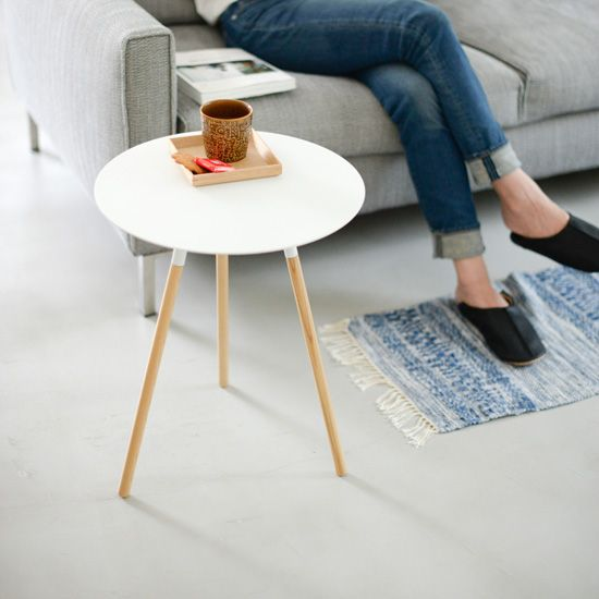 PLAIN/サイドテーブル(ホワイト) - 北欧雑貨と北欧食器の通販サイト| 北欧、暮らしの道具店