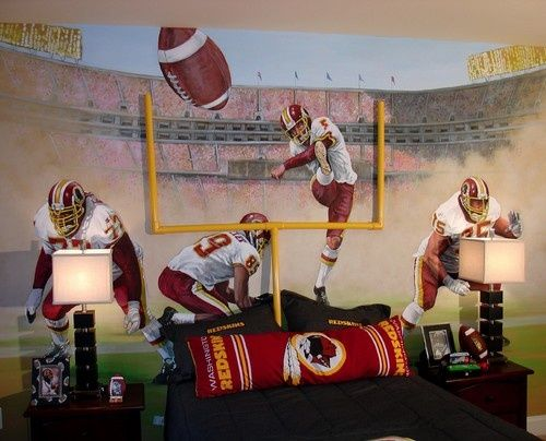 football mural | Football Field Design, Pictures, Remodel, ... | mural/painting ideas