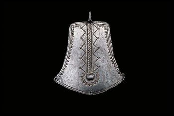 Viking age / Silver pendant/ Norrbotten - this would make a cool yoke/neckline embroidery.