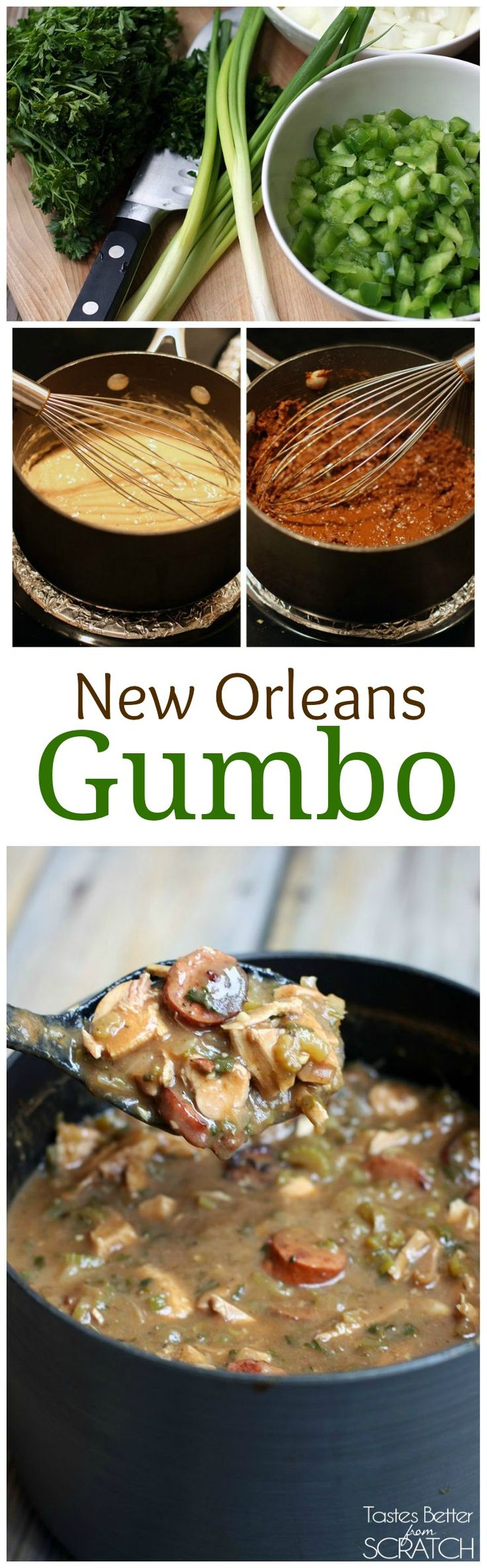 Authentic New Orleans Style Gumbo recipe on TastesBetterFromScratch.com (Louisiana Chicken Stew)