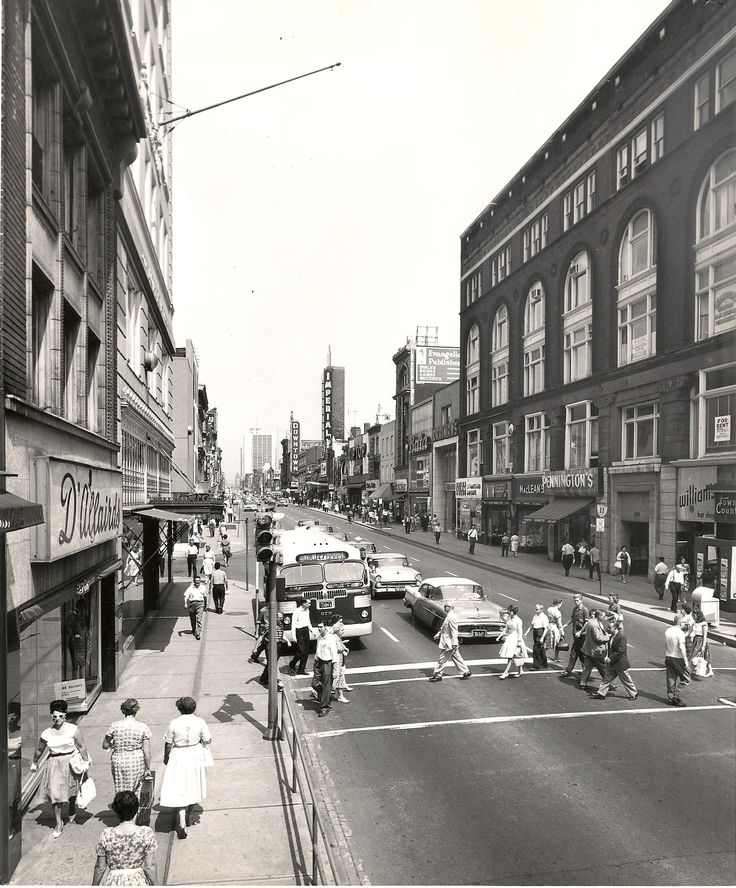 Yonge Street facing north to Dundas - 1960s
