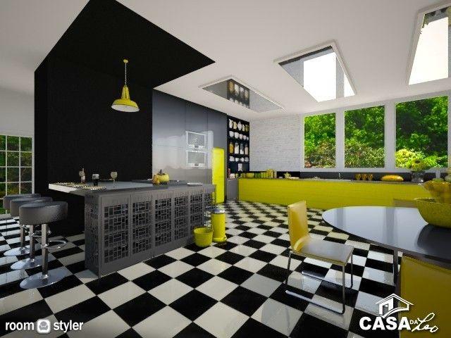 Black and Yellow Kitchen (Kitchen)