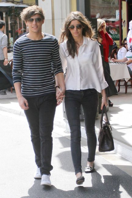Louis Tomlinson and his girlfriend Eleanor Calder looking classy and  fabulous. #sassyandclassy #yes