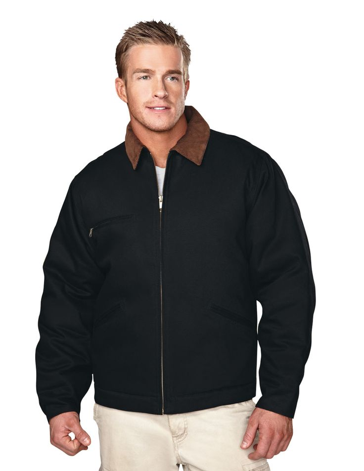 Cotton Canvas Work Jacket With Quilted Lining. Tri mountain 4800 #cotton  #soft #zipper