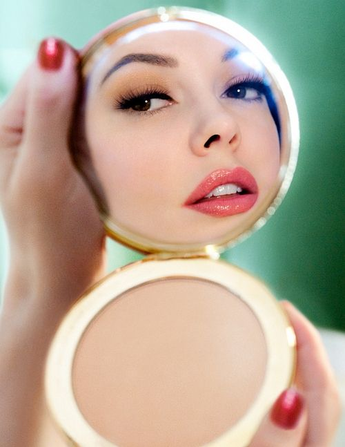 Mirror, Mirror in my compact..Who is the fairest of them all?- Rose McGowan