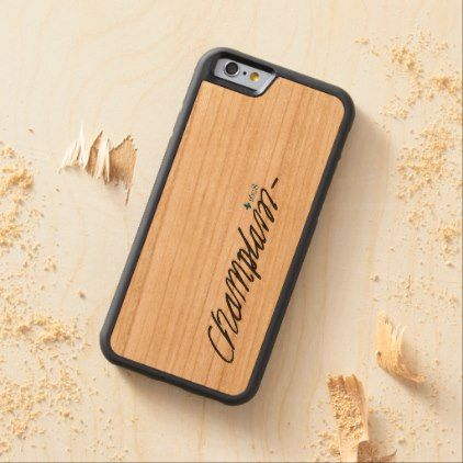 Quebec Samuel de Champlain 1608 French Signature Carved Cherry iPhone 6 Bumper Case - diy cyo customize create your own #personalize