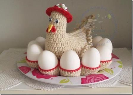 Porta ovos de crochê - Artesanato na Rede