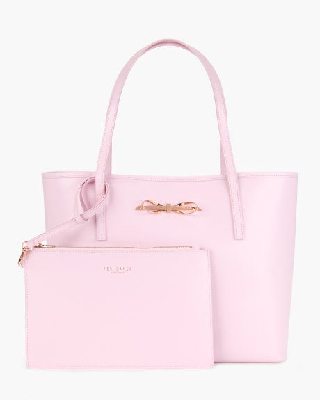 Crosshatch leather shopper - Baby Pink | Bags | Ted Baker UK