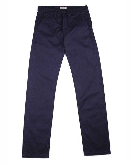 Velour Navy Adan Pants: Velour's renowned classic chino Adan with just the right mix of stretch for that right effortless feeling. The chino fabric means that it is constructed of diagonal, parallel ribs. This structure gives the chino cloth its heavy duty strength while also allowing it to drape well.