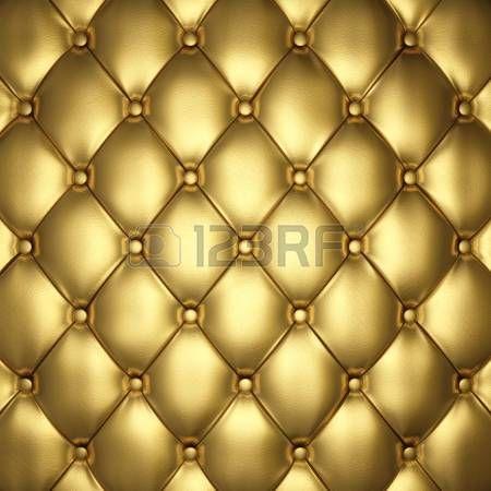 Золото кожаная обивка, 3d иллюстрации photo
