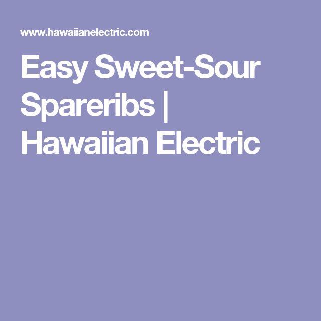 Easy Sweet-Sour Spareribs | Hawaiian Electric