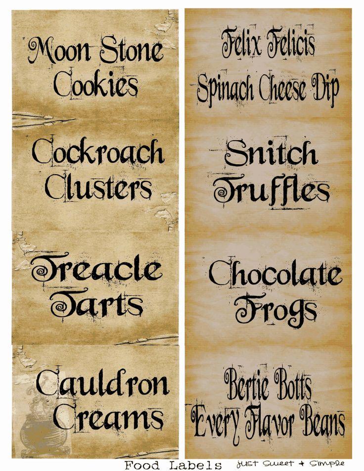 Harry Potter Food &Drink Labels.PDF