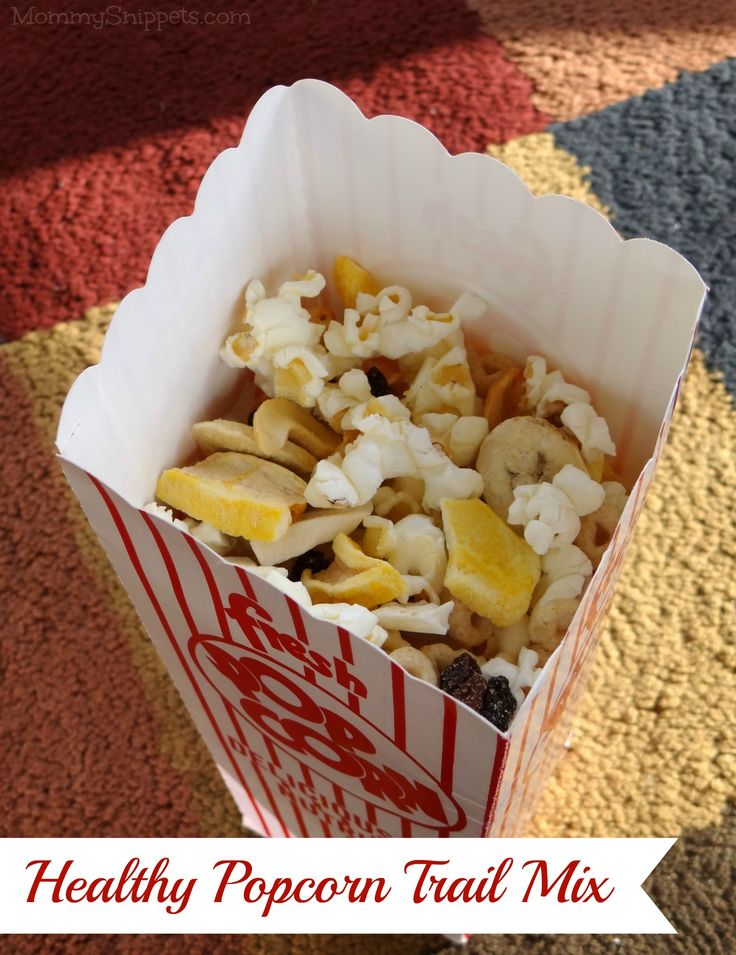 Healthy Popcorn Trail Mix for Movie Night {#StreamTeam} - Mommy Snippets