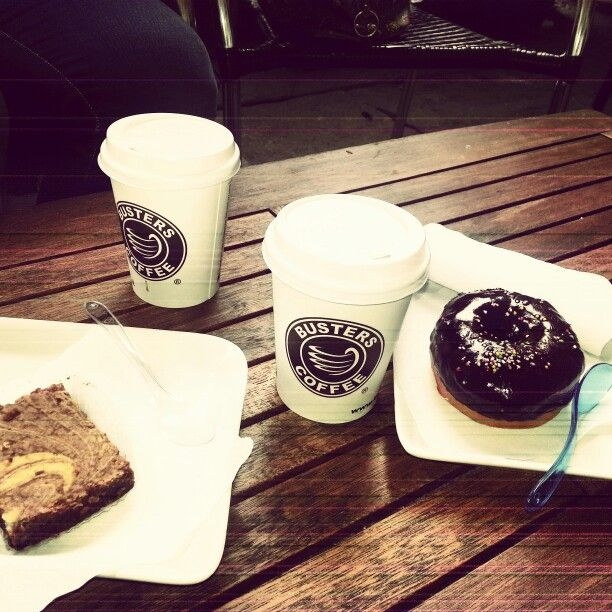 Busters Coffeee Torino.  Donut+Brownies+Milk Coffee
