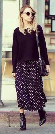 Baggy jumper floaty skirt