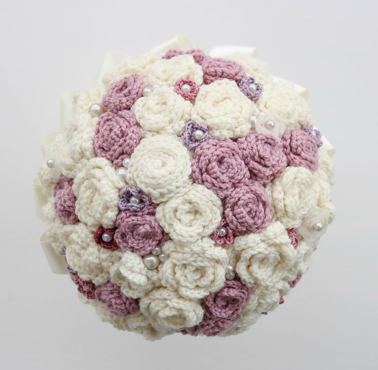 Crocheted wedding bouquet all finished!! I'm rather pleased with it! more on my blog: accordingtomatt.blogspot.com: