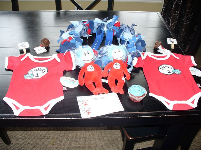 Thing 1 U0026 Thing 2 Twin Baby Shower   Decorations U0026 Gift ...