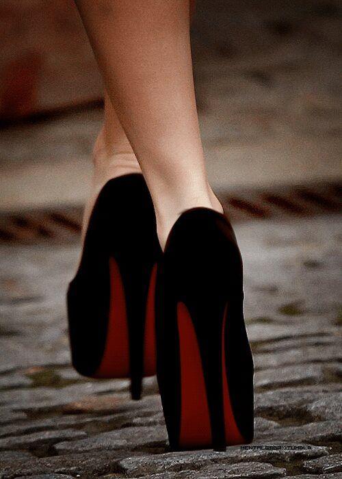 Classic black Christian Louboutin heels.