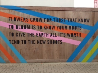 Lemn Sissay extract outside Greenwich Station