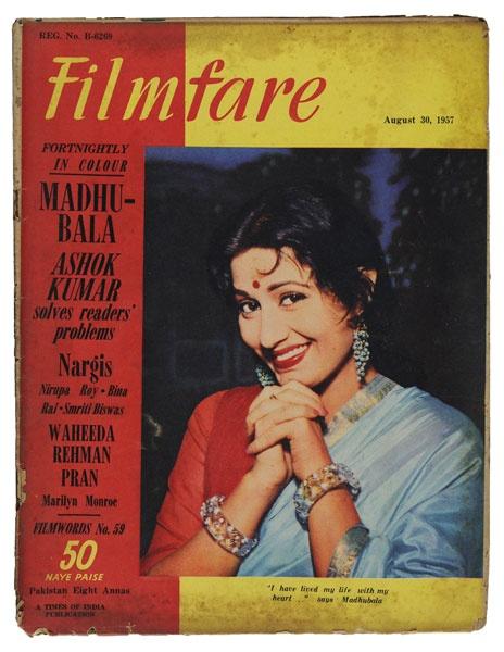 Madhubala on Filmfare Magazine Cover 1957