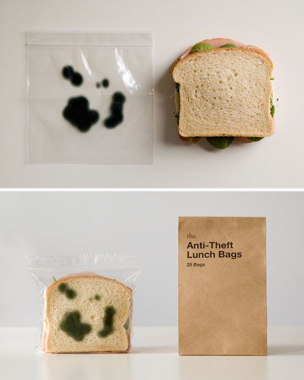 Anti-Theft Lunch Bag: Anti Theft Lunches Bags, Lunches Baggy, Antitheft Lunches, Coolest Design, Funny, Products Design, Corks Ideas, Lunches Bags Um, Damn Things