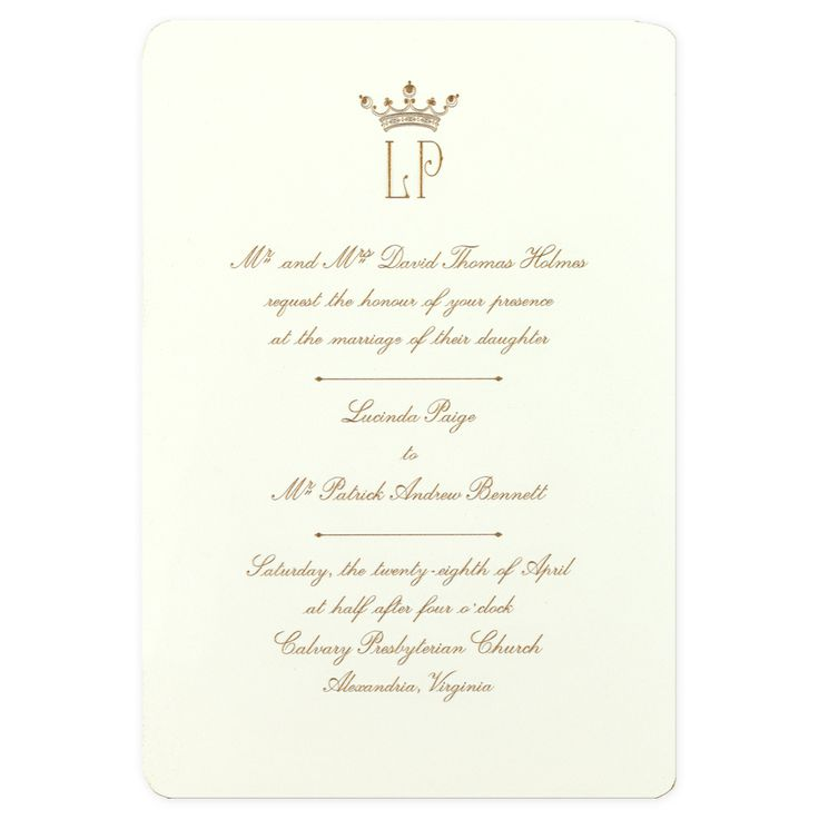 Crown invitation by martha stewart einvite wedding wedding for Wedding invitation kits martha stewart
