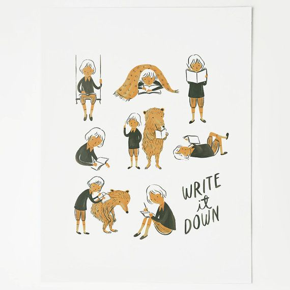 Write it Down by QuillandFox on Etsy, $25.50