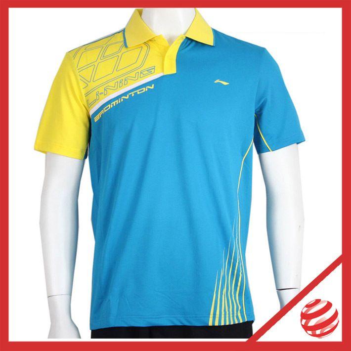 Ли - Ning бадминтон серии мужчины теннис и бадминтон спорт рубашки поло китай подкладка AAYG225