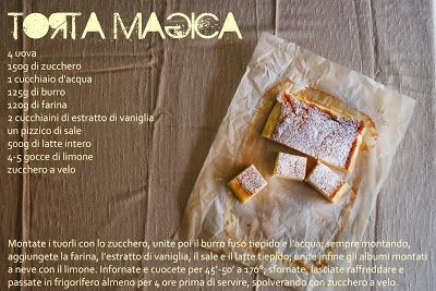 photo and food - torta magica