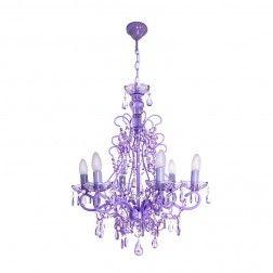 Lámpara techo araña candelabro 6 brazos violeta. #Lamparas de #techo en nuryba.com tu #tienda de #lamparas, #muebles y #decoracion #online de #interiores en #Madrid y para decorar tu #casa