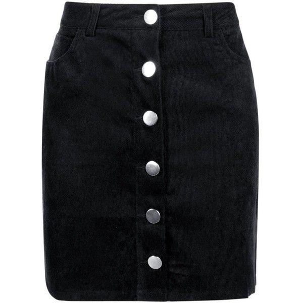 Boohoo Fallen Button Front Cord Mini Skirt ($18) ❤ liked on Polyvore featuring skirts, mini skirts, midi skirt, pleated mini skirt, pleated skirt, maxi circle skirt and mini circle skirt